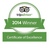 TripAdvisor awards the BLUE WHALE INN the 2014 Certificate of Excellence.