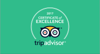 TripAdvisor awards the BLUE WHALE INN the 2017 Certificate of Excellence